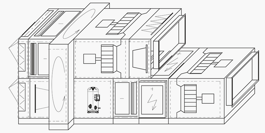 Вентиляционная установка для воздушного отопления и кондиционирования