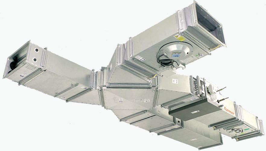 Приточно-вытяжная вентиляционная установка с пластинчатым рекуператором и тепловым насосом «Термал»