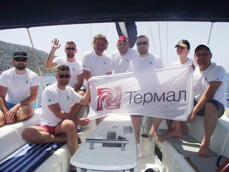 Команда Термал участник яхтенной регаты по островам Греции
